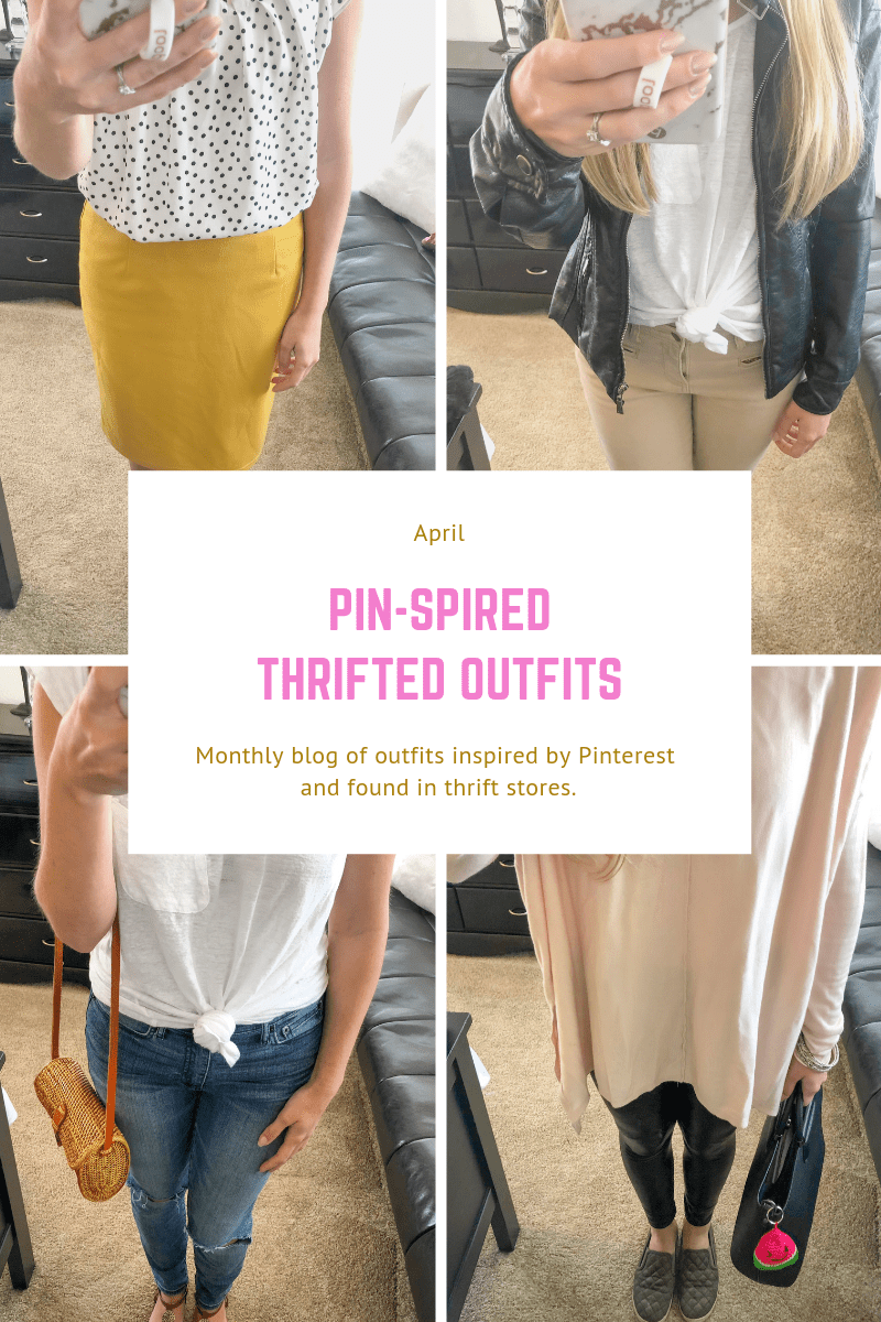 Pin-spired Thrifted Outfits: April