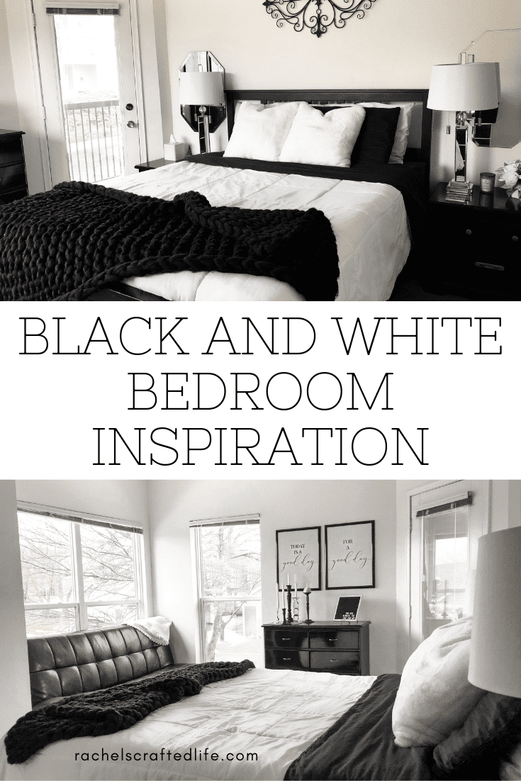 Black And White Master Bedroom Re Do Rachel S Crafted Life